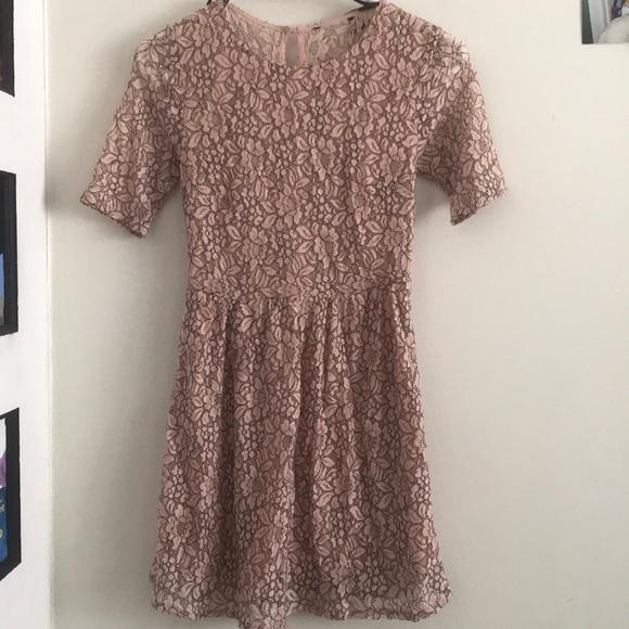 Cute Lace pink dress